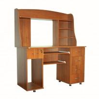 Комп'ютерний стіл Nika 11 з надбудовою Ніка меблі (компактний з тумбами)