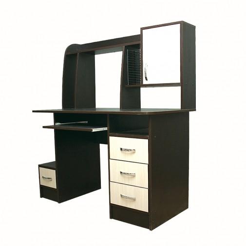 Комп'ютерний стіл Nika 12 без надбудові Ніка меблі (з місцем для зберігання)