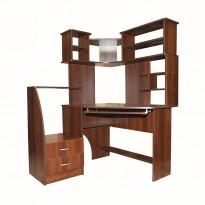 Компьютерный стол Nika 14 Ника мебель (угловой с большой надстройкой)