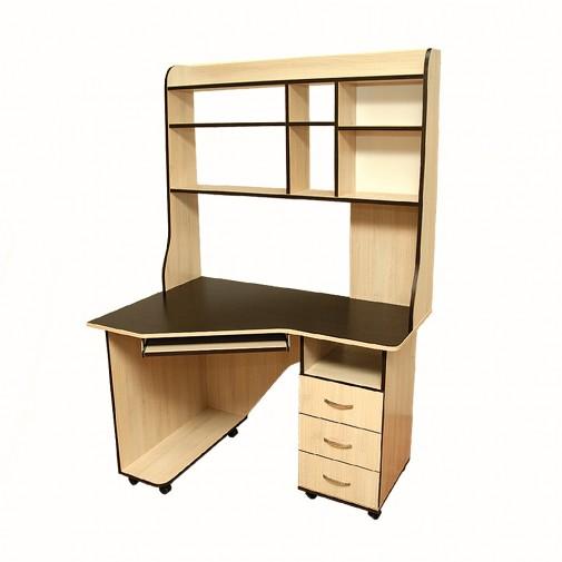 Компьютерный стол Nika 16 Ника мебель (мобильный на колесиках)