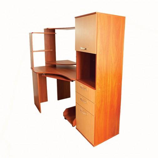Компьютерный стол Nika 23 Ника мебель (с вместительным пеналом)