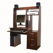 Комп'ютерний стіл Nika 34 Ніка меблі (компактний з відкрітою надбудовою)