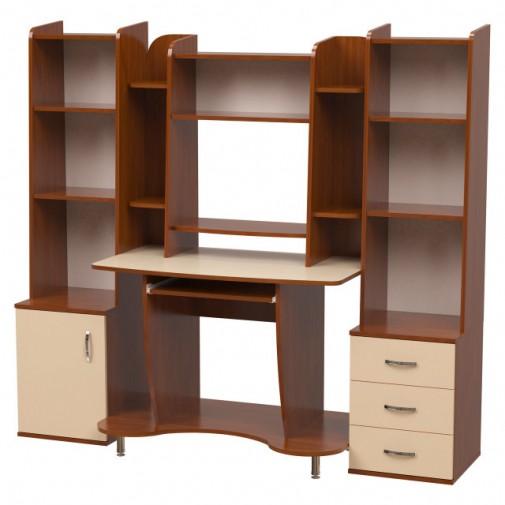 """Комп'ютерний стіл """"Вега"""" Ніка меблі (прямий з скроню надбудовою)"""