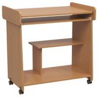"""Компьютерный стол """"Веста"""" Ника мебель (компактный на колёсиках)"""