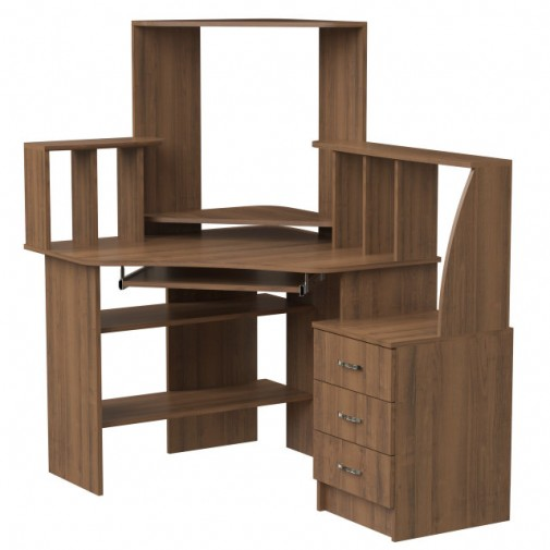 """Компьютерный стол """"Дорис"""" Ника мебель (угловой с надстройкой)"""