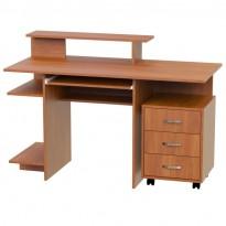 """Компьютерный стол """"Европа"""" Ника мебель (прямой с мобильной тумбой)"""