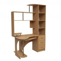 """Комп'ютерний стіл """"Лиситея"""" Ніка меблі (з бічною пеналом)"""