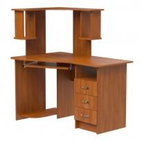 """Компьютерный стол """"Марс"""" Ника мебель (угловой с ящиками)"""