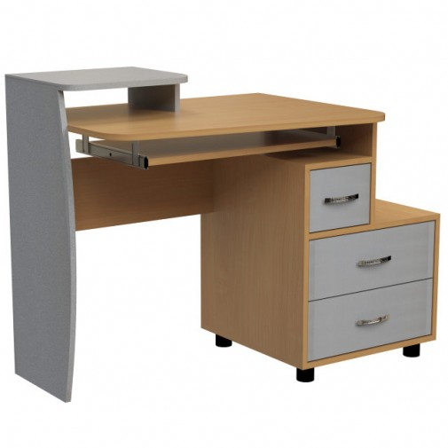 """Компьютерный стол """"Паллада"""" Ника мебель (компактный с ящиками)"""