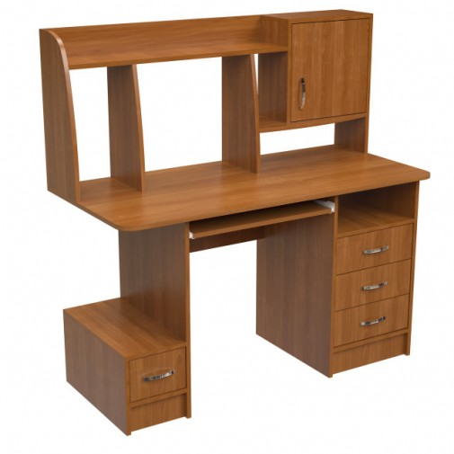"""Компьютерный стол """"Элара"""" Ника мебель (с ящиками и открытыми полками)"""