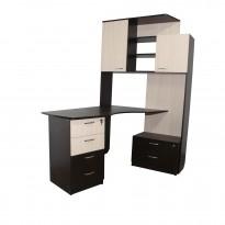 """Компьютерный стол """"Гермес"""" Ника мебель (с боковой пристройкой)"""