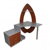 """Компьютерный стол """"Илифия"""" Ника мебель (угловой с тумбой)"""