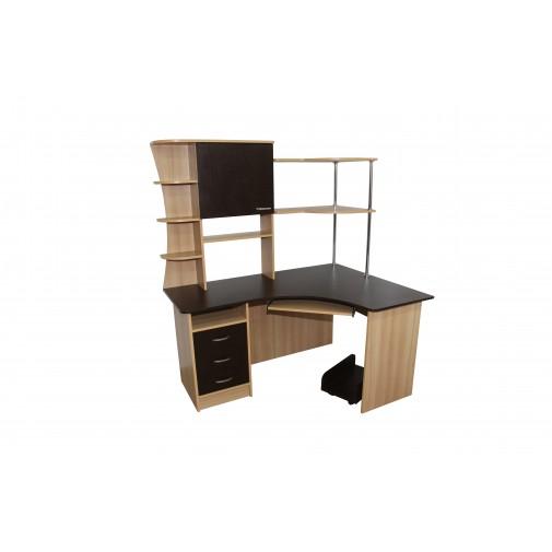 """Комп'ютерний стіл """"Кронос"""" Ніка меблі (кутовий з надбудовою)"""