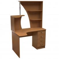 Компьютерный стол НСК 31 Ника мебель (с открытой надстройкой)