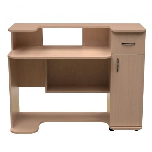 Комп'ютерний стіл НСК 32 Ніка меблі (прямий з поліцією)