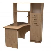 Компьютерный стол НСК 36 Ника мебель (с боковой надстройкой пенал)