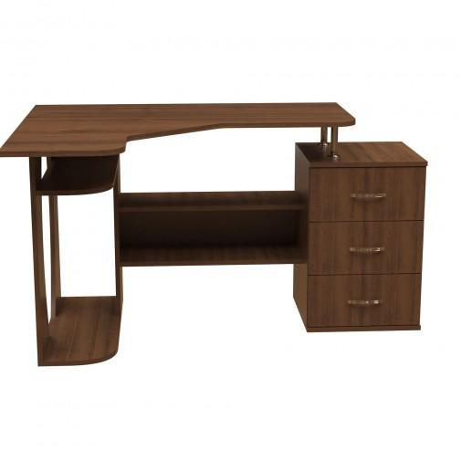 Комп'ютерний стіл НСК 45 Ніка меблі (кутовий з висувна ящиками)