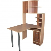 Комп'ютерний стіл НСК 1 Ніка меблі (з бічною прибудова)