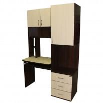 Компьютерный стол НСК 13 Ника мебель (с пристройкой шкаф-пенал)
