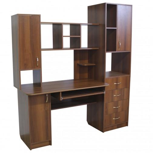 Компьютерный стол НСК 14 Ника мебель (с боковой пристройкой)