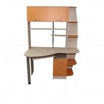 """Комп'ютерний стіл """"Тетія"""" Ніка меблі (з кутовий відкрітою прибудова)"""