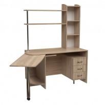 Компьютерный стол Нова Протеус Ника Мебель (с дополнительной выдвижной столешницей)