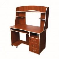 Компьютерный стол Nika 10 Ника мебель (прямой с высокой надстройкой)