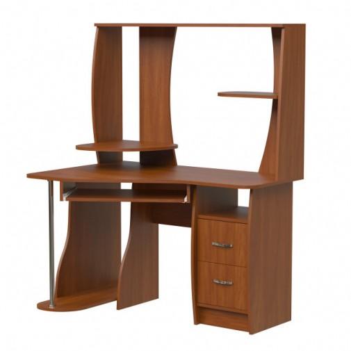 Комп'ютерний стіл Нова Ундіна Ніка меблі (з відкрітою надбудовою)