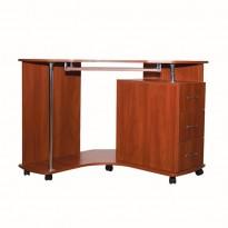 Комп'ютерний стіл Nika 18 Ніка меблі (кутовий на коліщатках)