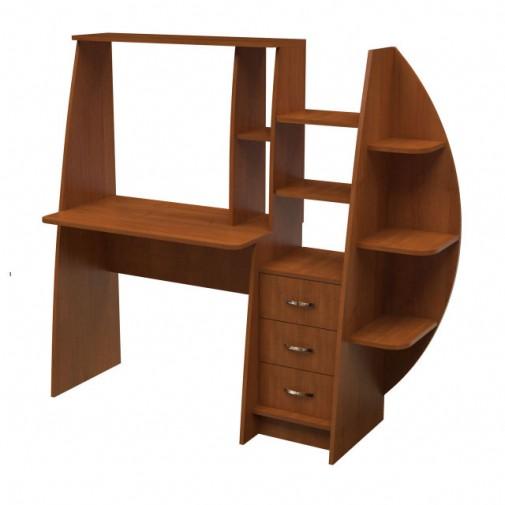Компьютерный стол НСК 26 Ника мебель (с открытыми полками)