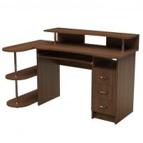 Компьютерный стол НСК 30 Ника мебель (прямой с открытыми полками)