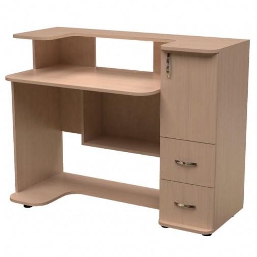 Комп'ютерний стіл НСК 34 Ніка меблі (із закритою тумбою)