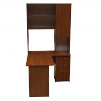 Компьютерный стол НСК 37 Ника мебель (с боковой надстройкой пенал)