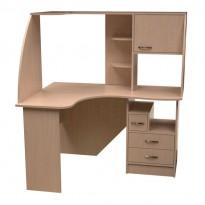 Комп'ютерний стіл НСК 39 Ніка меблі (кутовий з відкрітімі поліції)
