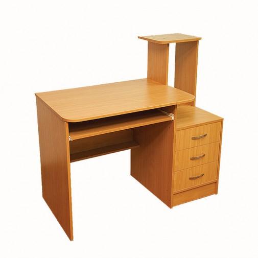 Компьютерный стол Nika 20 Ника мебель (компактный с полкой для клавиатуры)