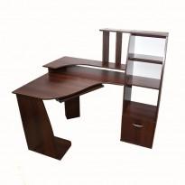 Комп'ютерний стіл Nika 28 Ніка меблі (кутовий з прибудова шафа-пенал)