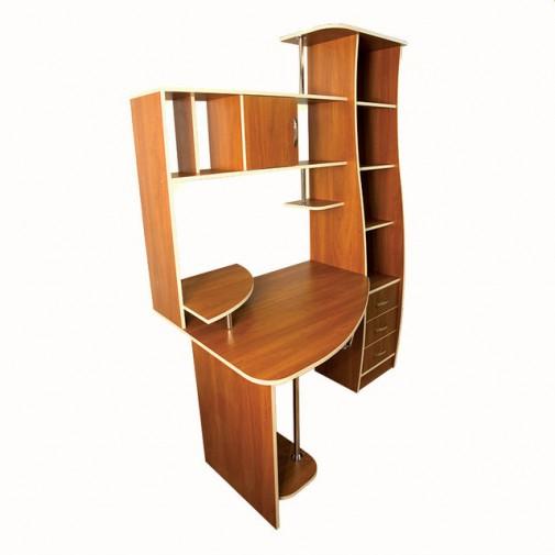 Компьютерный стол Nika 29 Ника мебель (просторный с открытой пристройкой)