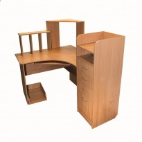 Компьютерный стол Nika 35 Ника мебель (угловой с практичной тумбой)