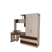 Комп'ютерний стіл Nika 49 Ніка меблі (з місткім шафою)