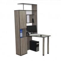 """Компьютерный стол """"Антей"""" Ника мебель (с высокой надстройкой)"""