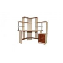 """Компьютерный стол """"Афина"""" Ника мебель (угловой с высокой надстройкой)"""