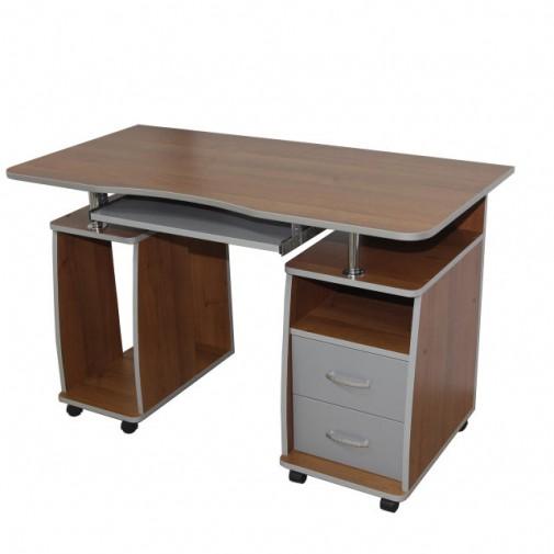 """Компьютерный стол """"Гемера"""" Ника мебель (на колесиках с ящиками)"""