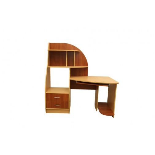 """Компьютерный стол """"Деметра"""" Ника мебель (угловой с пристройкой)"""