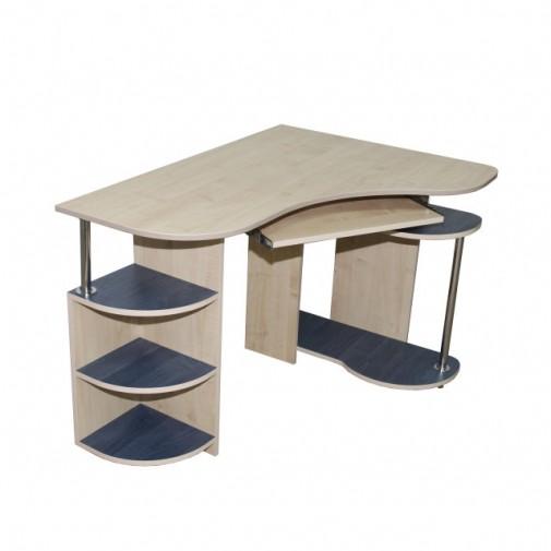 """Компьютерный стол """"Клио"""" Ника мебель (угловой с открытыми полками)"""