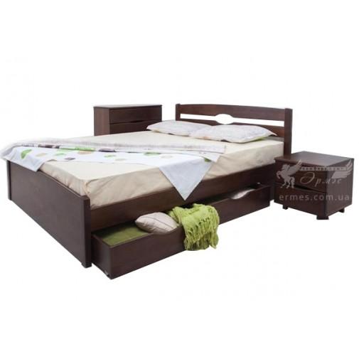 """Дерев'яне ліжко Олімп """"Ліка LUX з шухлядами"""" (для сучасної спальні)"""