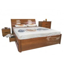 """Ліжко дерев'яне """"Маріта LUX з шухлядами"""" Олімп (з місцем для зберігання)"""