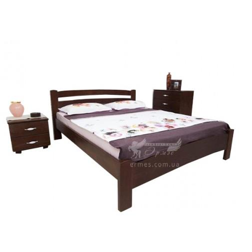 """Ліжко """"Мілана Люкс"""" Олімп (дерев'яне двоспальне)"""