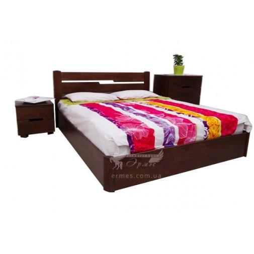 """Ліжко дерев'яна """"Айріс"""" з підйомним механізмом Олімп (з коробом для зберігання)"""