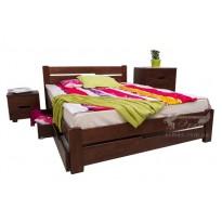 """Кровать деревянная """"Айрис"""" с выдвижными ящиками Микс мебель  (с невысоким изголовьем)"""