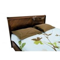 """Кровать """"Милена"""" с интарсией и подъемным механизмом Олимп (с местом для хранения)"""